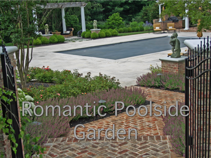 Romantic Poolside Garden