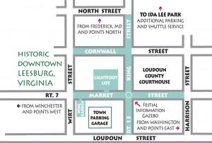 Leesburg Flower & Garden Festival Map