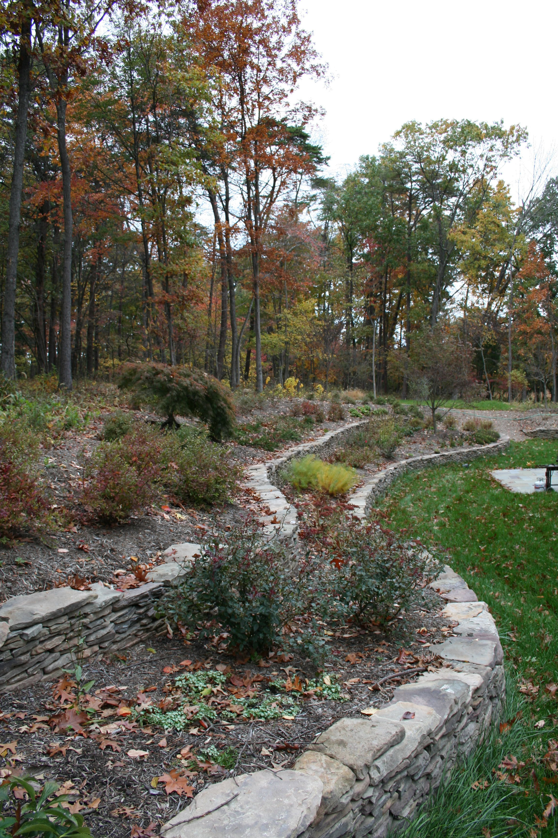 Wooded Drystack Retaining Wall