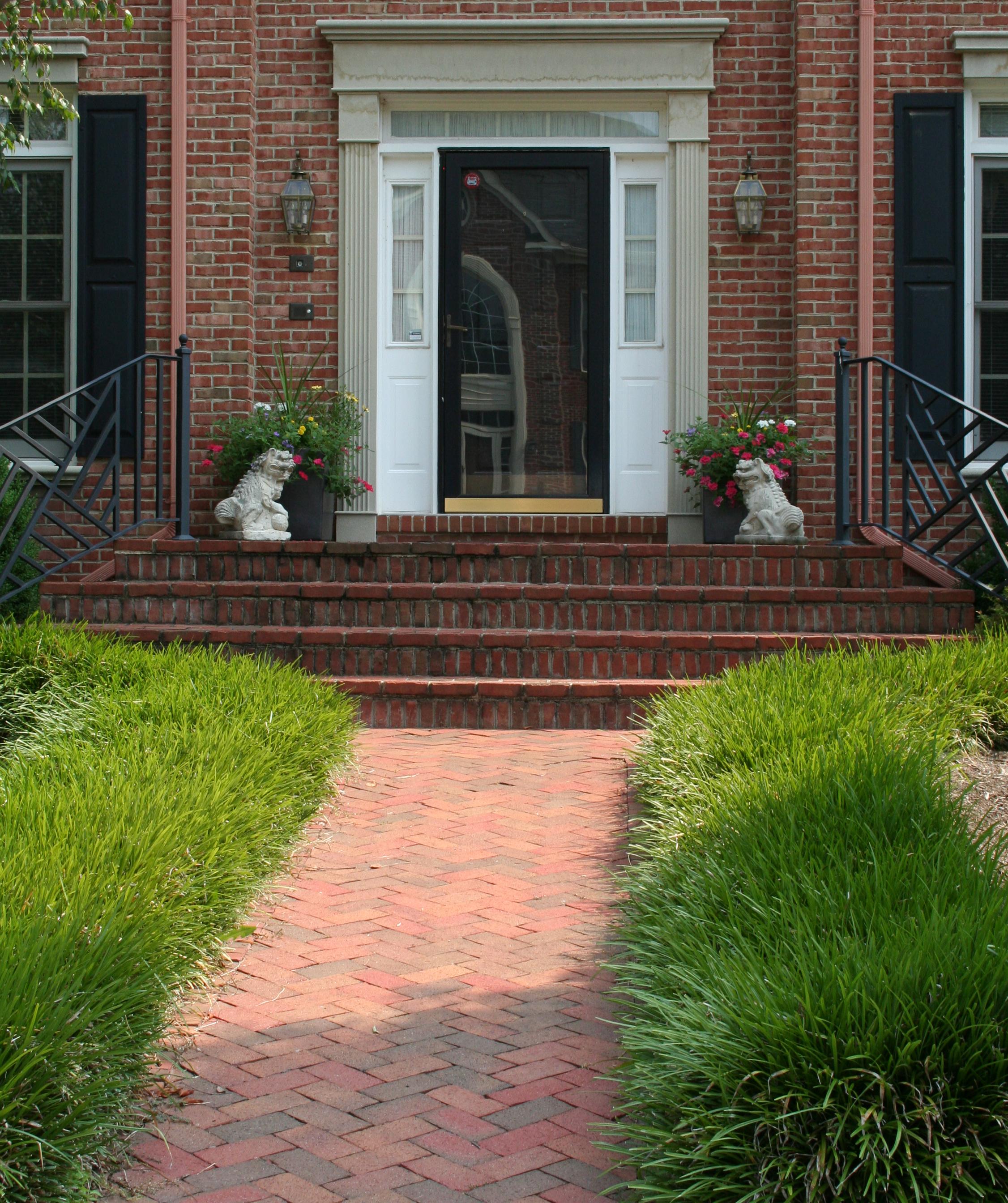 Brick front walkway